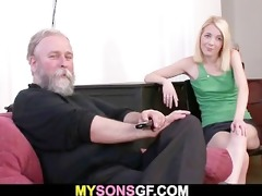 he is leaves and she is sucks his dads cock