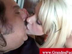 grandpa bonks blonde legal age teenager from