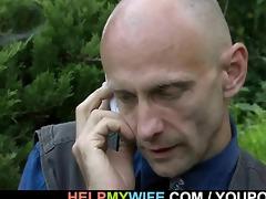 hung stranger does lewd juvenile wife
