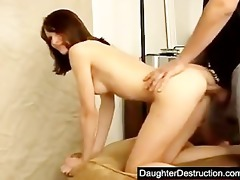youthful beauty pounded hard by large dick