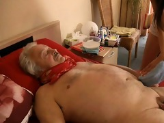 sexy, youthful nurse copulates horny, sick grandad