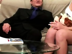 hot black-haired youthful honey receives licked