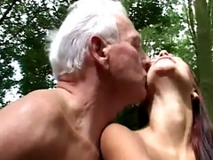 old &; juvenile fuck in the woods