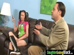 youthful daughter acquires pounded by big black