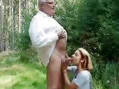 youthful angel helping an old chap wi...