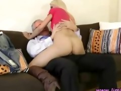 chic mature lad copulates sexy younger playgirl