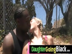 hot daughter dong engulf and interracial fuck 8