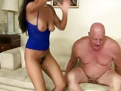 wicked brunette hair fucking plump grandpa
