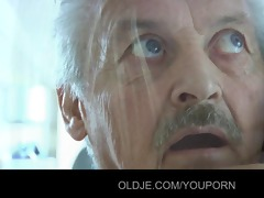 grand-dad gustavo drilled by his naive maid