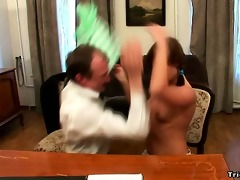 hot schoolgirl rides her teachers fuck stick for