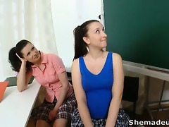 simona and her hot classmate are awaiting in the