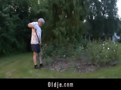 lukcy grandpa fuck in some with top hooties