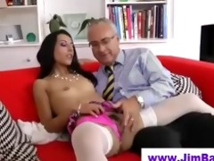 chick in nylons sucks old stud
