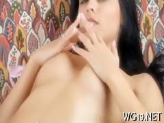 beauty caresses moist cum-hole