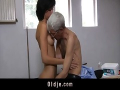 avid old fellow fucks anal concupiscent brunette