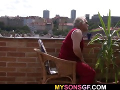 cute beauty cheats with her bfs old dad