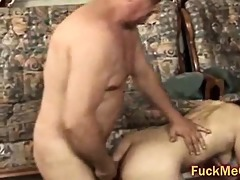 old penis copulates youthful cum-hole