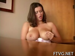 beauty plays with sex toys