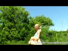 grandad bonks blonde legal age teenager outdoors