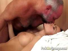 old man has an appetite for juvenile pussy