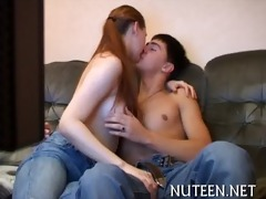 hot legal age teenager gets body caressed well