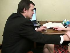 tricky teacher seducing fascinating student