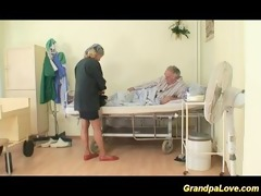 granddad honey fucking a nice dark brown nurse