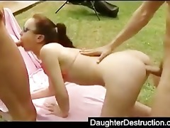 cute legal age teenager daughter screwed hard