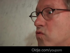perv old geezer copulates youthful hotel maid