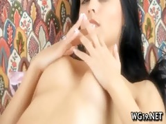 beauty plays with vibrator