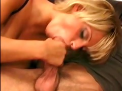 shorthaired blonde cougar with massive breasts