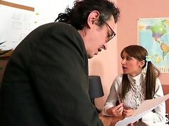 teacher is getting wet oral pleasure