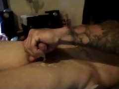hottest smutty talkin dad discharges his load