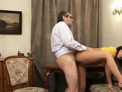 teacher is getting soaked oral pleasure