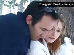 pigtailed teen daughter screwed hard