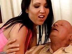 concupiscent granddad enjoys sex with hawt legal