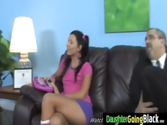 youthful daughter acquires pounded by big dark