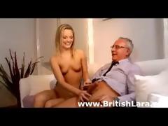 cute juvenile blond hottie bonks mature british