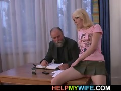 old guy pays him to fuck his youthful wife