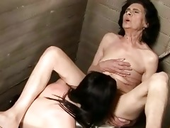 old brunette hair chick wishes threesome juvenile