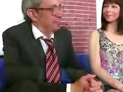 old teacher loved his russian brunette hair