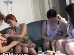 four lustful old ladies with large bumpers love